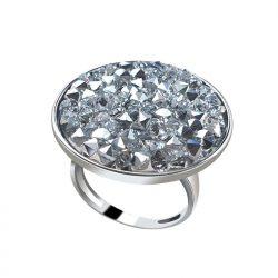 Pierścionek srebrny z kryształami Swarovski Crystal CAL Rocks