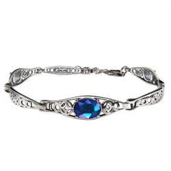 Bransoletka srebrna z kryształami L 2096