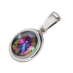 Wisiorek srebrny z kryształem Volcano w 2109