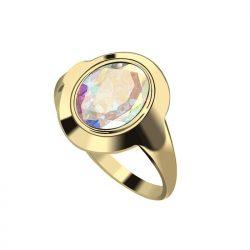 Pozłacany pierścionek z kryształem PK 2109