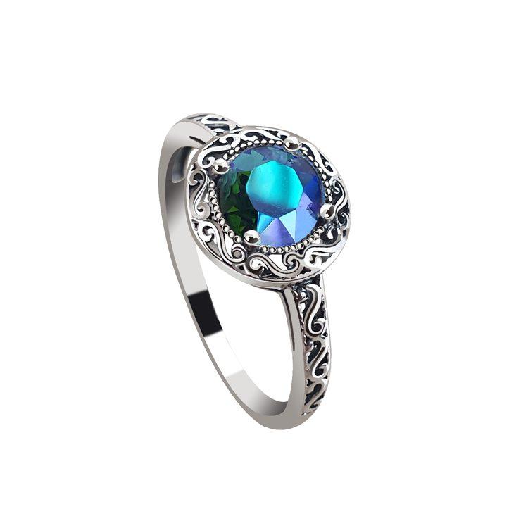 Srebrny pierścionek z kryształem PK 2111