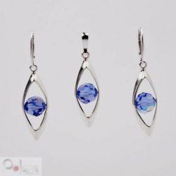 Komplet srebrny z kryształami Swarovskiego KPL 1101 Light Sapphire AB