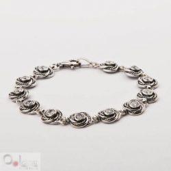 Bransoletka srebrna z cyrkoniami L 1612