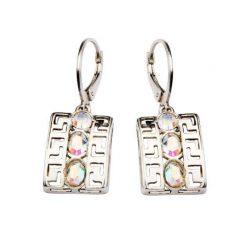 Kolczyki srebrne z kryształami Swarovskiego K 974 AB