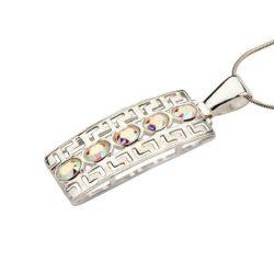 Srebro oksydowany wisiorek kryształy Swarovskiego W 974 AB