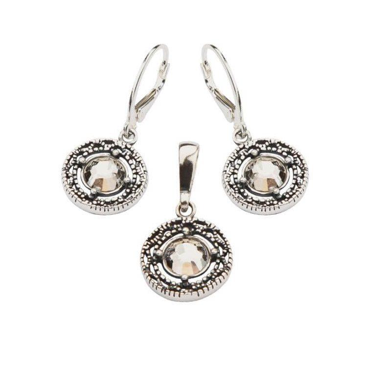 Komplet srebrny z kryształami Swarovskiego KPL 984