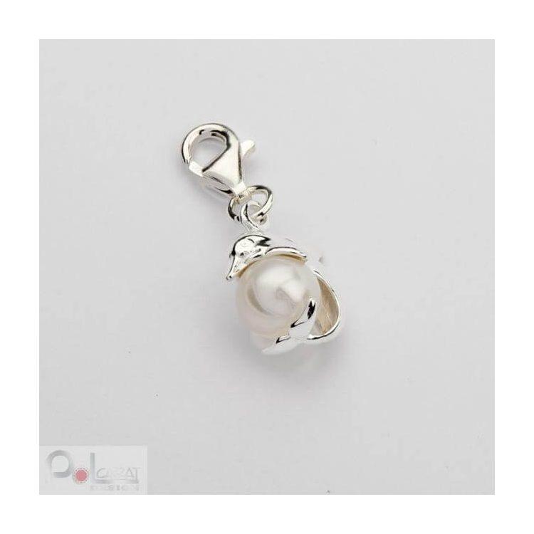 Srebrny Charms z perełką 1151 Perła