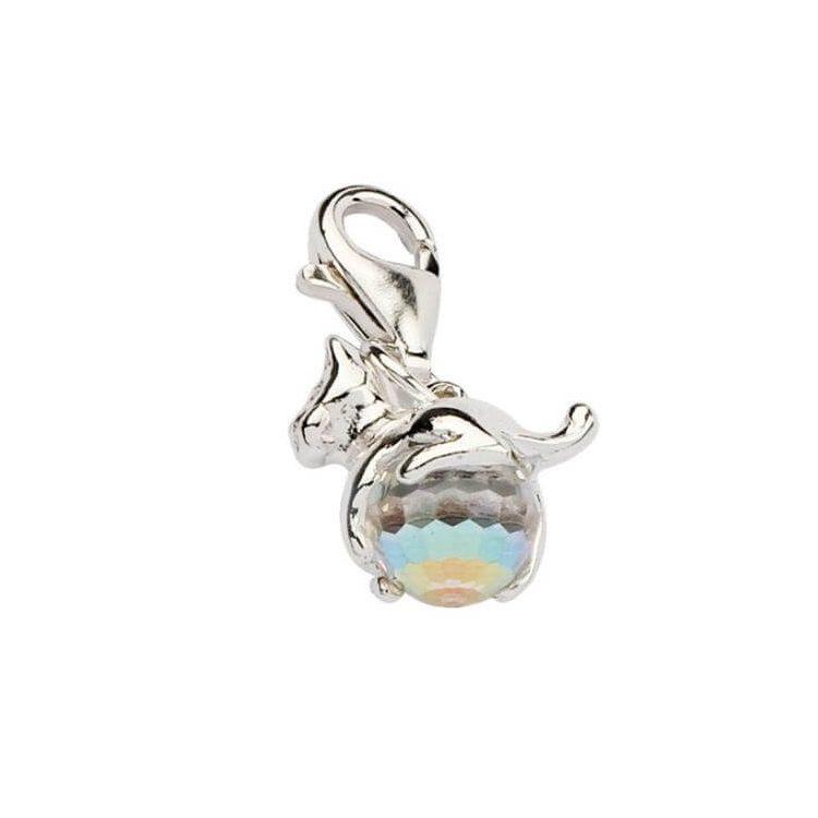 Srebrny Charms z kryształem Swarovskiego 1149 Crystal AB