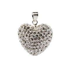 Wisiorek srebrny zdobiony sercem Swarovskiego W SV 01