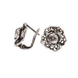 Kolczyki srebrne z cyrkoniami K3 1645 Biały