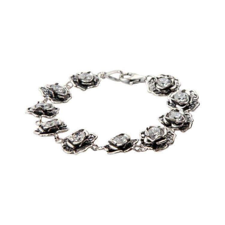 Bransoletka srebrna z cyrkoniami L 1645