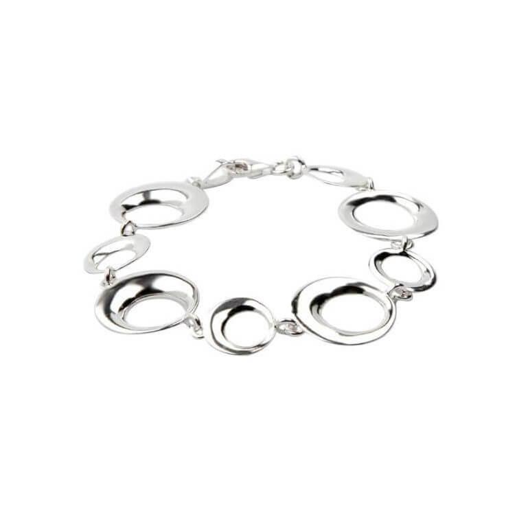 Bransoletka srebrna L 1658