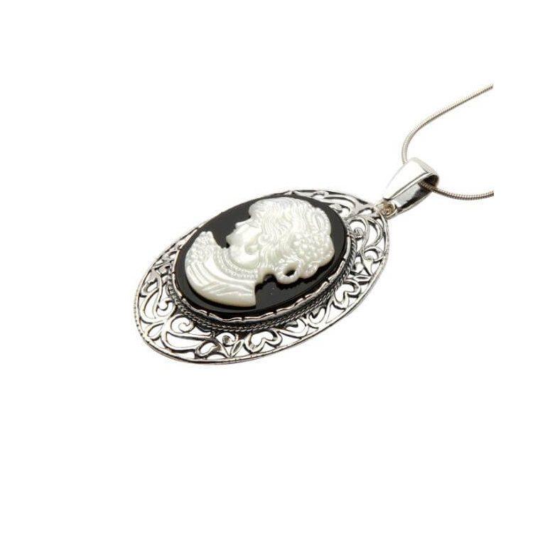 Wisiorek srebrny W 1671 Kamea