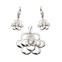 Pierścionek srebrny kwiatek PK 1680