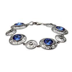 Bransoletka srebrna z kryształami Swarovskiego L 1693 Sapphire