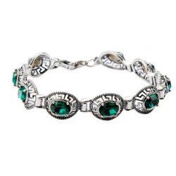Bransoletka srebrna z kryształami Swarovskiego L 1699 Emerald