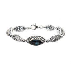 Bransoletka srebrna z kryształami Swarovskiego L 991 Montana