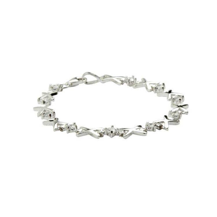 Bransoletka srebrna z cyrkoniami L 373