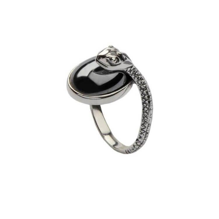 Pierścionek srebrny ŻMIJA PK 1717 Krzem