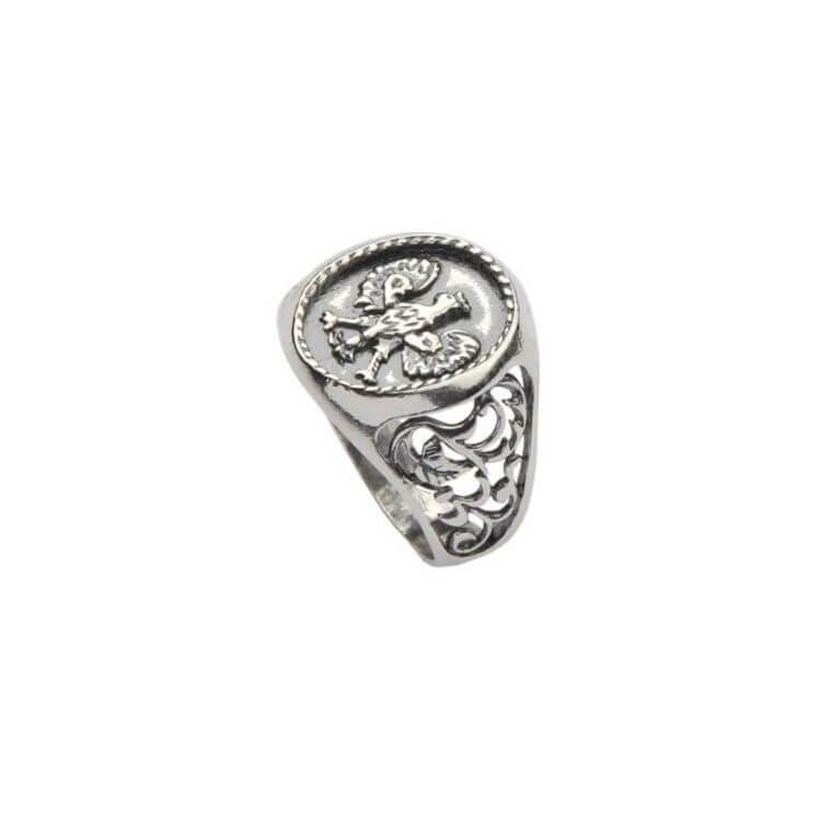 Pierścionek srebrny sygnet Orzeł PB 336