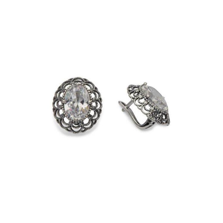 Kolczyki srebro cyrkonie K3 1740