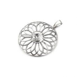 Srebrny oksydowany wisiorek Swarovski W 1758 Crystal
