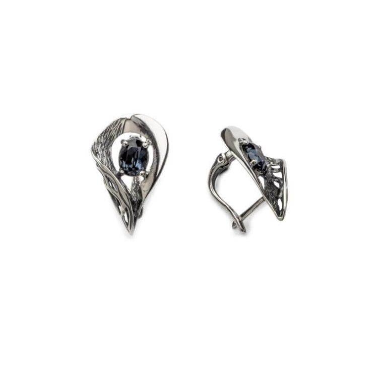 Kolczyki srebrne z kryształami swarovskiego K3 1772 Montana