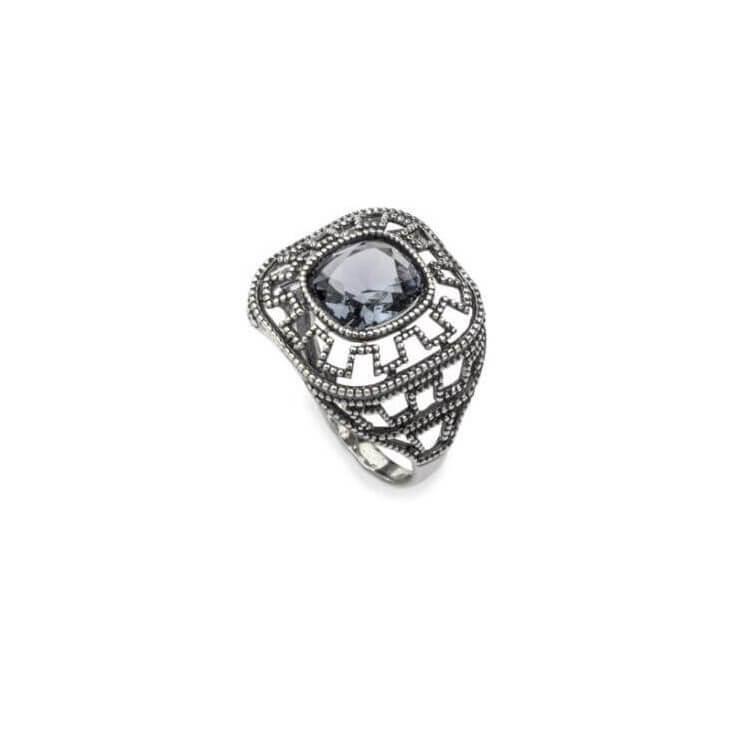 Srebrny pierścionek z kryształami Swarovskiego PK 1768 Denim Blue