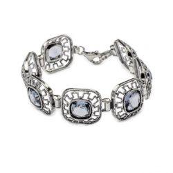 Bransoletka srebrna z kryształami Swarovskiego L 1768 Denim Blue