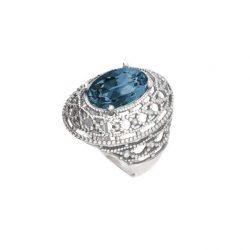 Srebrny pierścionek z kryształami Swarovskiego PK 1777