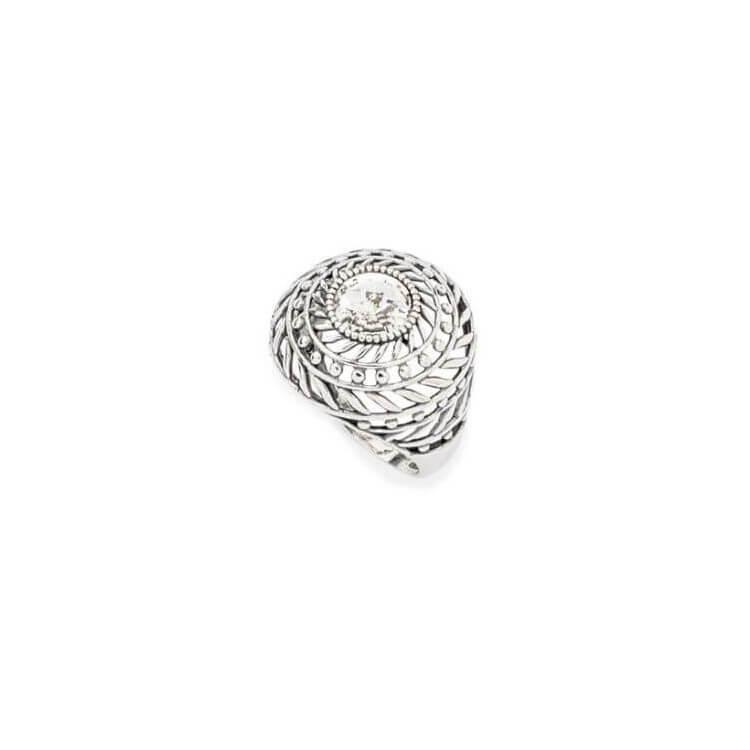 Srebrny pierścionek z kryształami Swarovskiego PK 1744 Crystal