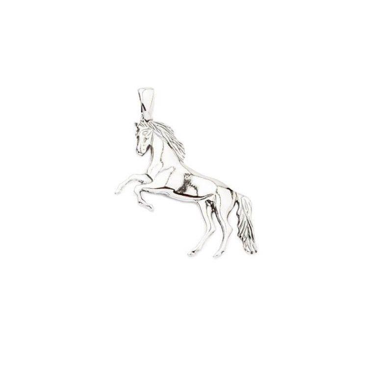 Srebrny wisiorek oksydowany Koń W 1780