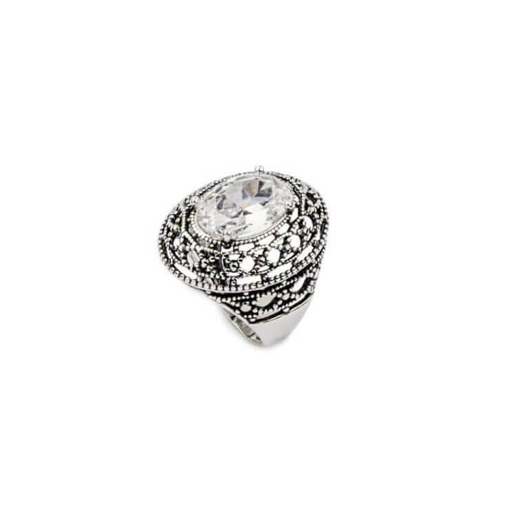 Srebrny pierścionek z cyrkonią PK 1777