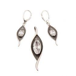 Biżuteria srebrna komplet z cyrkoniami KPL 1655