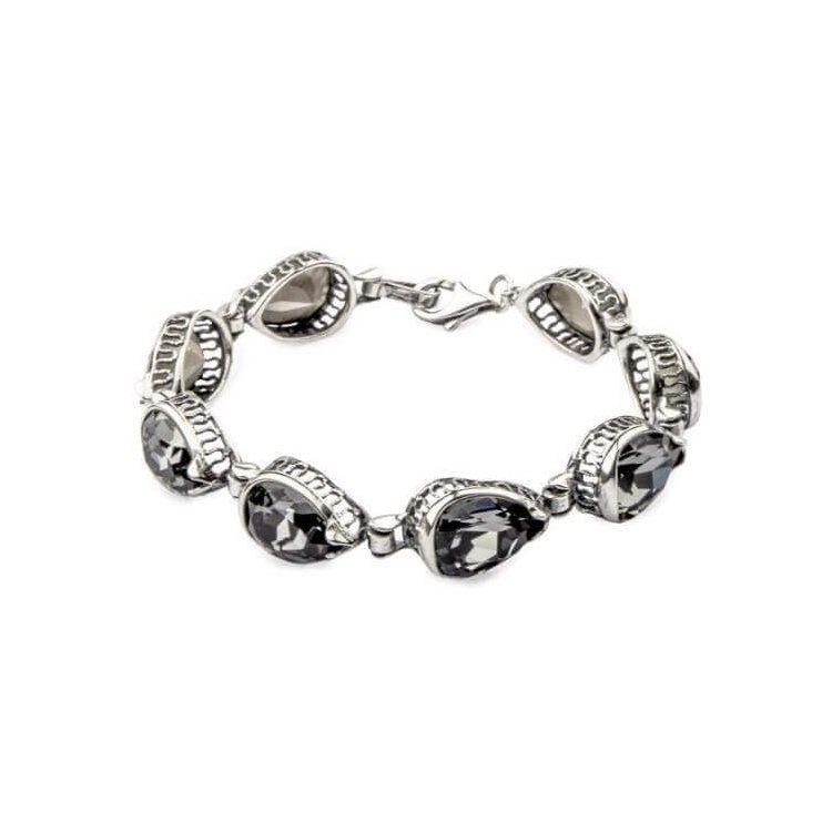 Bransoletka srebrna z kryształami Swarovskiego L 1595