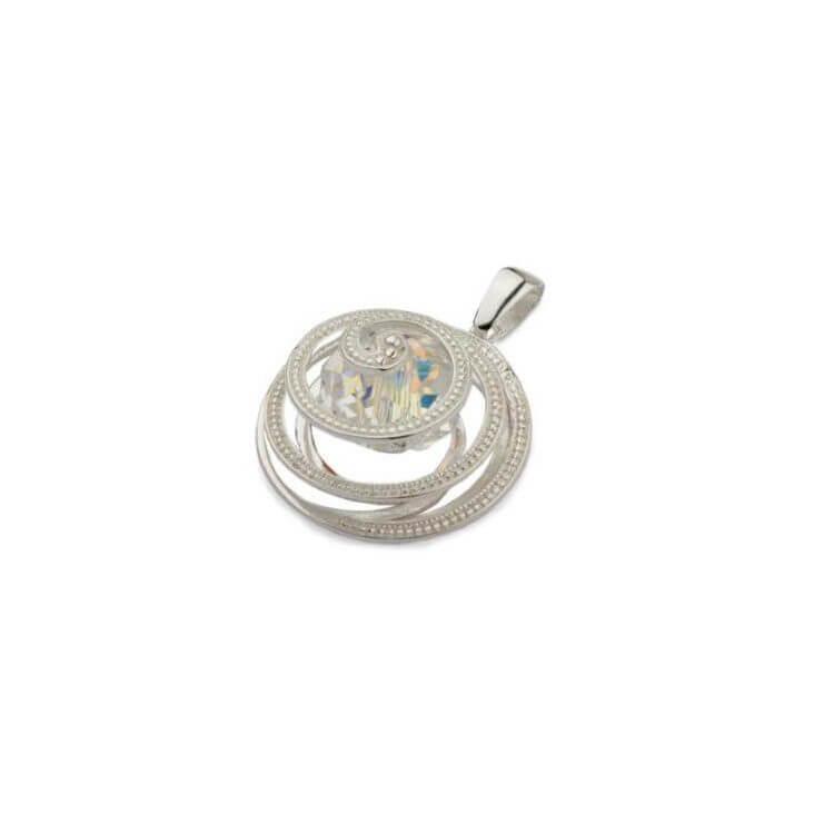 Srebrny wisiorek Swarovski W1 1790 Crystal AB
