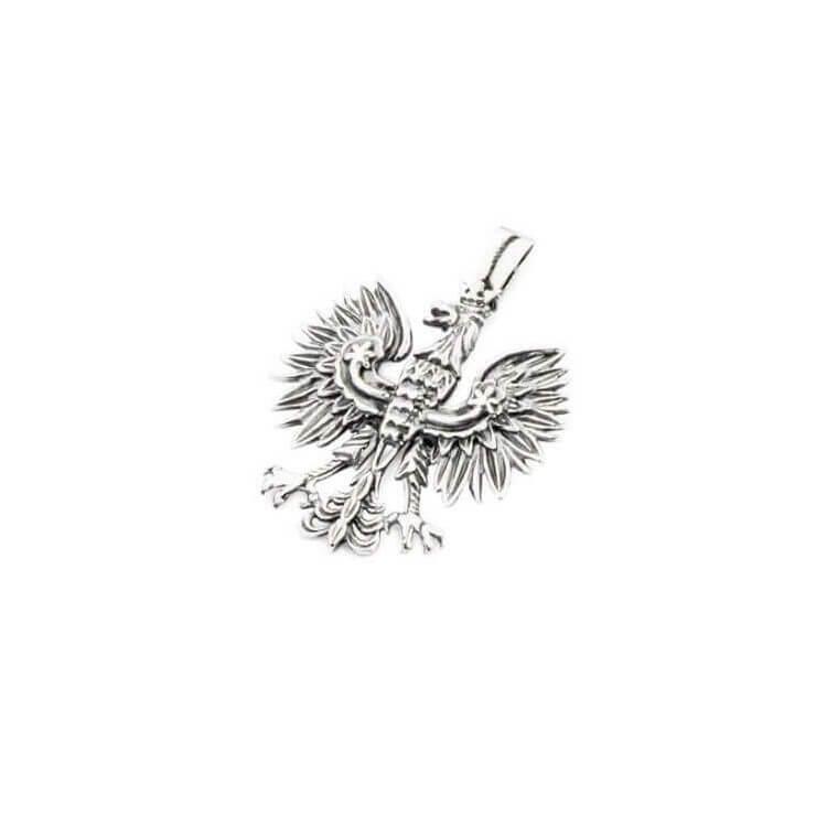 Wisiorek srebrny oksydowany Orzeł W2 1656