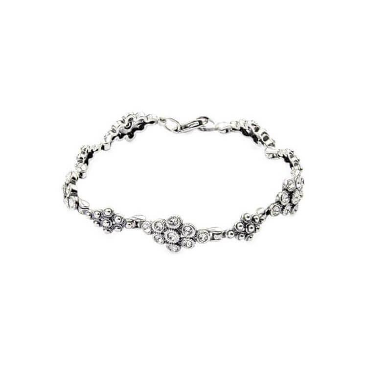 Bransoletka srebrna z kryształami Swarovskiego L 1807 Crystal