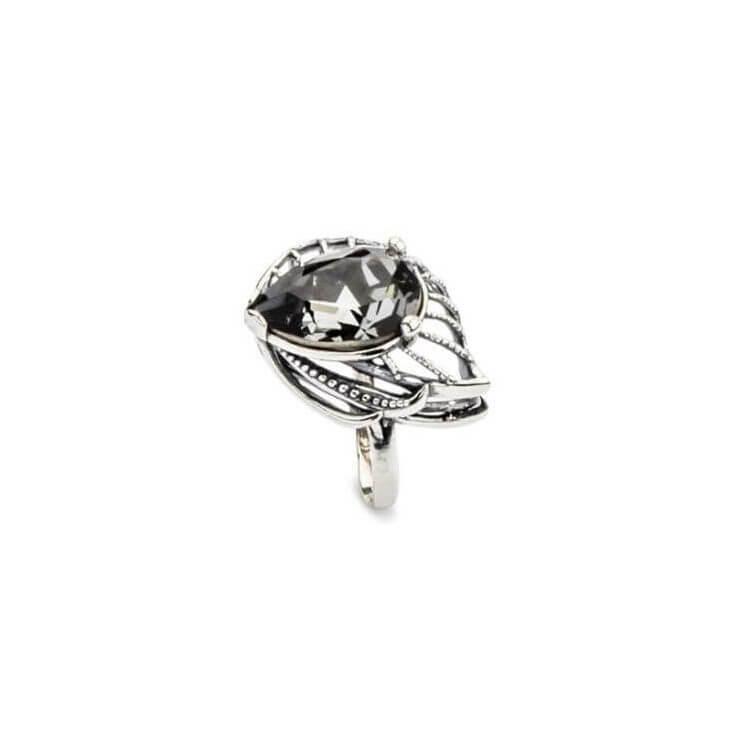 Srebrny pierścionek z kryształami Swarovskiego PK 1644 Silver Night