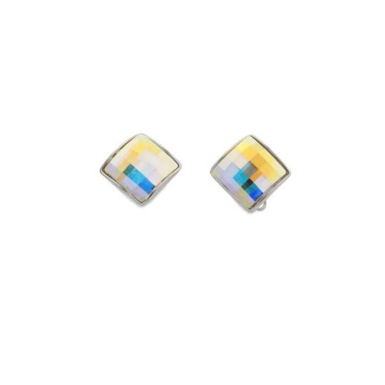 Klipsy srebrne z kryształami Swarovskiego 1583 Klipsy Crystal AB