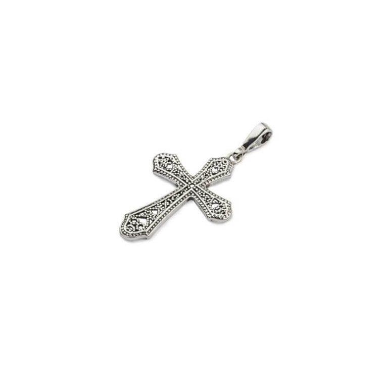 Srebrny oksydowany krzyżyk W 1199