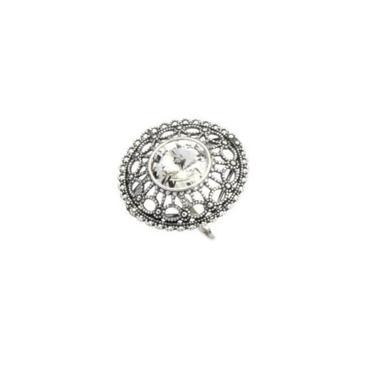 Srebrny pierścionek z kryształami Swarovskiego PK 1719