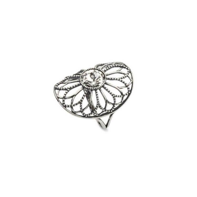 Srebrny pierścionek z kryształami Swarovskiego PK 1758 Crystal