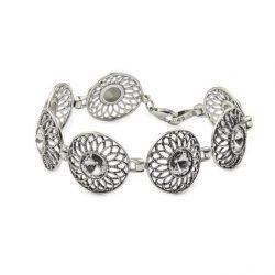Bransoletka srebrna z kryształami Swarovskiego L 1758 Crystal