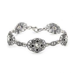 Bransoletka srebrna z kryształami Swarovskiego L 1809 Crystal Jet