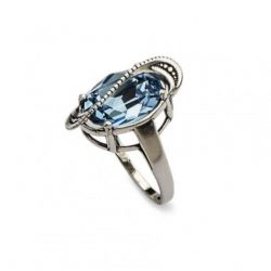 Srebrny pierścionek z kryształami Swarovskiego PK 1817 Aquamarine
