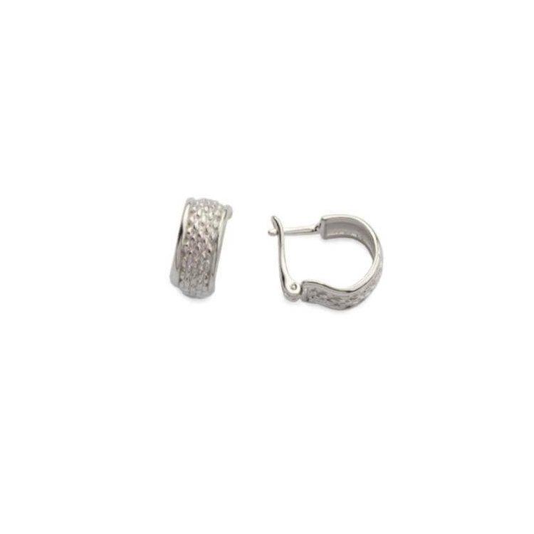 Rodowane srebrne kolczyki K3 1157