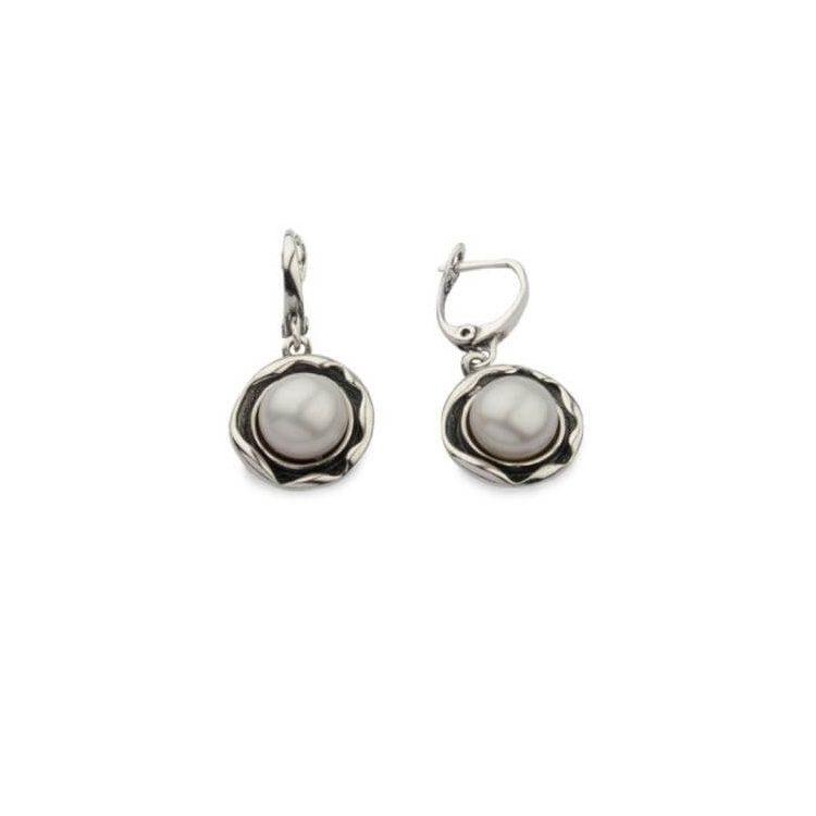 Kolczyki srebrne z perłami K 1852 Perła