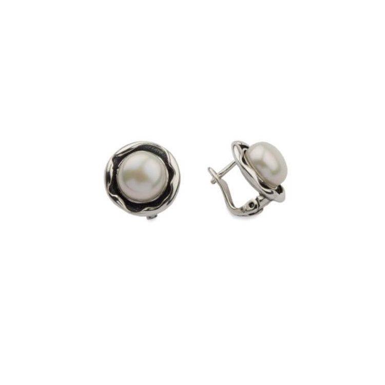 Kolczyki srebrne z perłami K3 1852 Perła