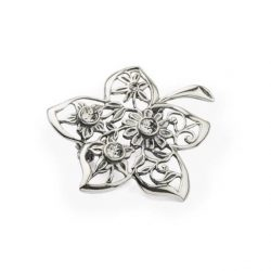 Srebrna broszka kwiat z kryształami Swarovskiego B 164